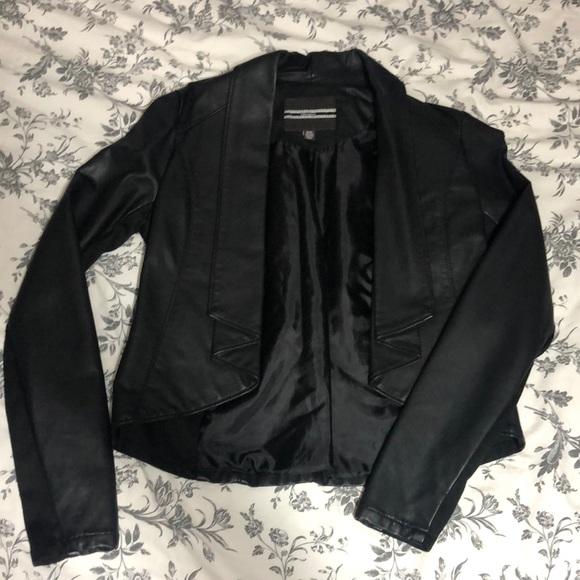 Black leather jacket/blazer